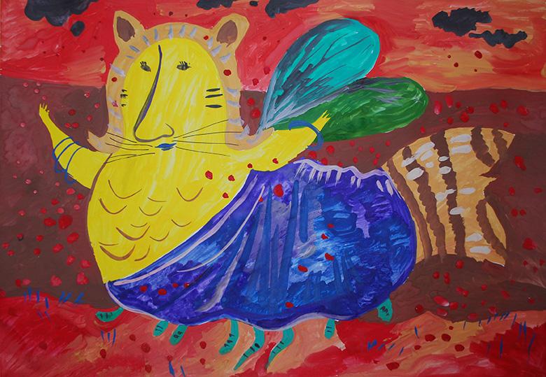 """Відзнака за стилізацію Лілія Вівчаршин, 11р. """"Бджілка зустрічає червоний сніг"""""""