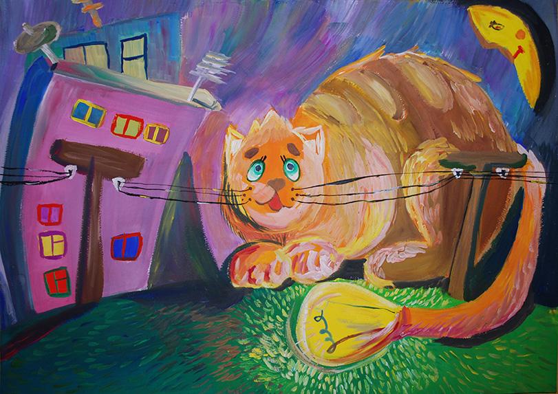 """І ступінь Юлія Юзефович, 11р. """"Електричний кіт"""""""