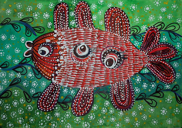 """ІІІ ступінь Софія Гудим, 13р. """"Весняна риба"""""""