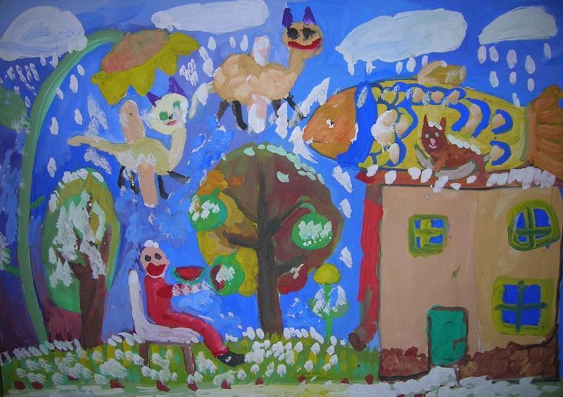 """Лауреат ІІІ ступеня Денис РУДЕНКОВ, 5р. """"Дитячий рай"""""""